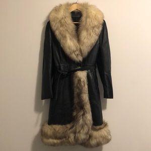 Vintage '70s Fox Fur Trimmed Coat